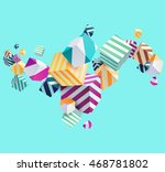 abstract colorful background... | Shutterstock .eps vector #468781802
