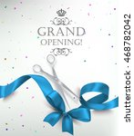 grand opening card with... | Shutterstock .eps vector #468782042