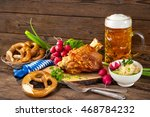 pork knuckle with beer and... | Shutterstock . vector #468784232