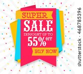 colorful paper tag of super... | Shutterstock .eps vector #468785396