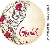 muesli or granola or porridge... | Shutterstock .eps vector #468794015