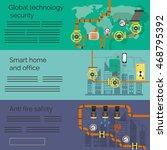 set of banners  engineering ... | Shutterstock .eps vector #468795392