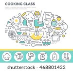 cooking class concept... | Shutterstock .eps vector #468801422