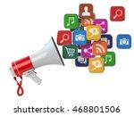 megaphone with cloud of... | Shutterstock . vector #468801506