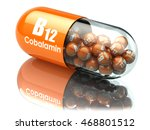 vitamin b12 capsule. pill with... | Shutterstock . vector #468801512