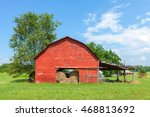 Traditional American Red Barn...