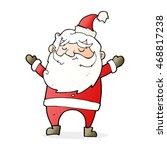 cartoon happy santa claus | Shutterstock . vector #468817238
