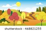 autumn landscape forest road...   Shutterstock .eps vector #468821255