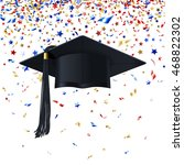 graduate cap with multicolored... | Shutterstock .eps vector #468822302