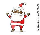 cartoon happy santa claus | Shutterstock . vector #468822668