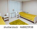 Stock photo the hostel interior bedroom beautiful interior bed 468825938