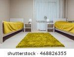 Stock photo hostel interior bedroom double bed interior 468826355