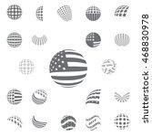 spherical symbols flag of the... | Shutterstock .eps vector #468830978