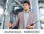 attractive young businessman... | Shutterstock . vector #468833282