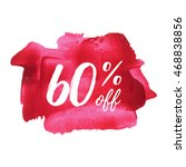 60  off vector text  logo  card ... | Shutterstock .eps vector #468838856