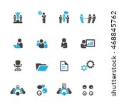 business and meeting icons... | Shutterstock .eps vector #468845762