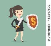 businesswoman carrying a money... | Shutterstock .eps vector #468847502