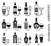 alcohol drinks icon set.... | Shutterstock .eps vector #468849392