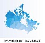 polygonal map of canada | Shutterstock .eps vector #468852686