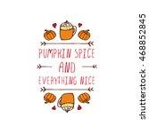 hand sketched typographic... | Shutterstock .eps vector #468852845