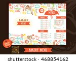bakery cafe menu design...   Shutterstock .eps vector #468854162