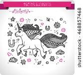 unicorn. elements for design.... | Shutterstock .eps vector #468857468