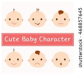 face character  boys  girls ... | Shutterstock .eps vector #468857645