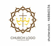 church logo. christian symbols. ... | Shutterstock .eps vector #468860156