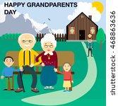 illustration of kids presenting ... | Shutterstock .eps vector #468863636