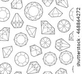 seamless pattern with diamonds... | Shutterstock . vector #468864272