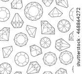 seamless pattern with diamonds...   Shutterstock . vector #468864272