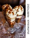 sweet dessert   chocolate and... | Shutterstock . vector #468874262