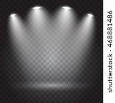 bright lighting with spotlights | Shutterstock .eps vector #468881486