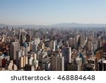 a top view from downtown area... | Shutterstock . vector #468884648