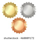vector blank glossy serrated... | Shutterstock .eps vector #468889172