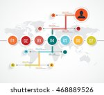 business infographic template.... | Shutterstock .eps vector #468889526