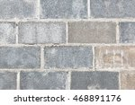 grey brick wall for background... | Shutterstock . vector #468891176