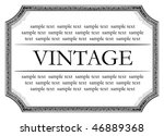 vintage framework marble black...   Shutterstock .eps vector #46889368