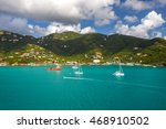 coastline along a road town in... | Shutterstock . vector #468910502