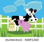 farm animals | Shutterstock .eps vector #46891360