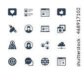 social media and network vector ... | Shutterstock .eps vector #468917102