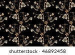 brawn floral seamless | Shutterstock .eps vector #46892458