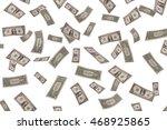 Falling Dollars On White...