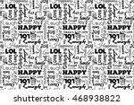 seamless pattern with words ... | Shutterstock .eps vector #468938822