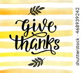 Thanksgiving Day Lettering For...