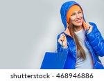 winter or autumn sport shopping ... | Shutterstock . vector #468946886