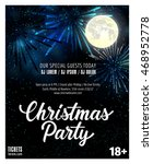christmas party lettering and... | Shutterstock .eps vector #468952778