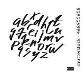 alphabet letters.black... | Shutterstock .eps vector #468955658