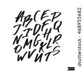 alphabet letters.black... | Shutterstock .eps vector #468955682