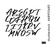 alphabet letters.black... | Shutterstock .eps vector #468955685